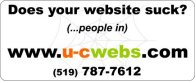 Does your website suck? (...people in) - ww.u-cwebs.com - (519) 787-7612